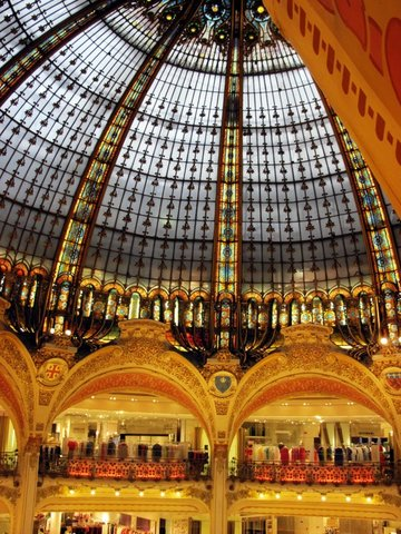 In paris france galeries lafayette boulevard haussmann paris